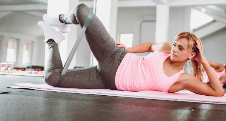 Lateral Glute Landed Bridge