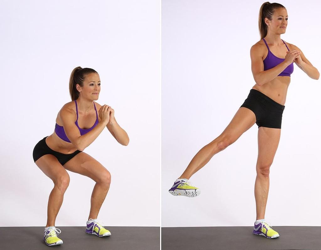 Squat Side Leg Lifts