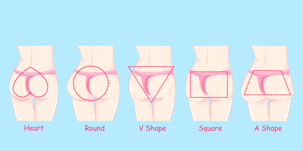 5 Types of Butt and Effective Exercise For Each of Them