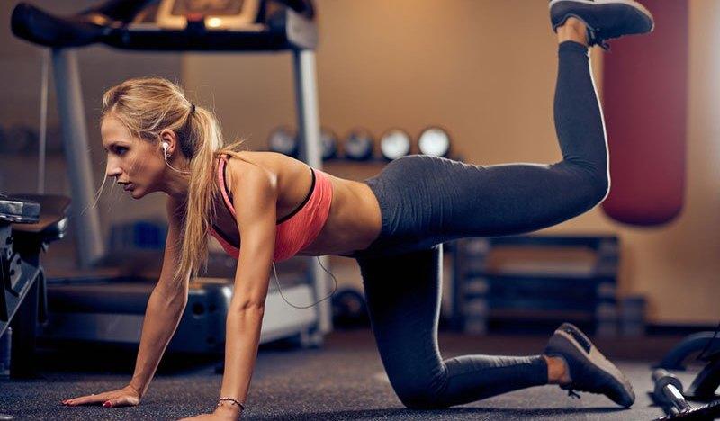 Leg kickbacks Exercise
