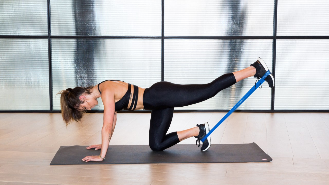 Butt Blaster Exercise by Using a Resistance Band