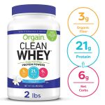 Orgain Grass Fed Clean Whey Protein Powder