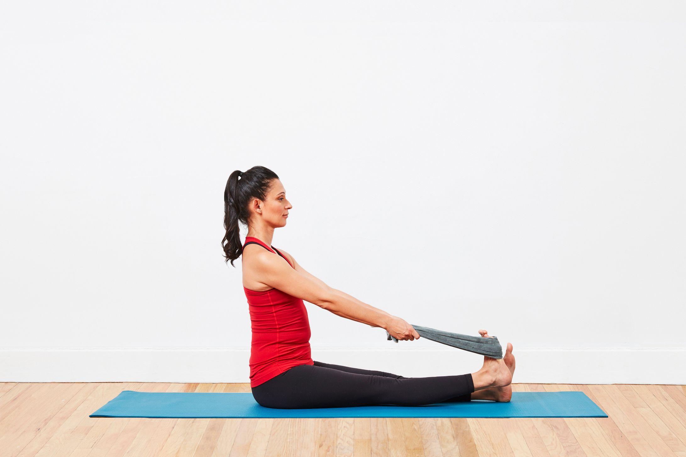Seated Calf Stretch